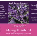 Lavender Massage and Bath Oil with Pure Doterra Essential oil and Rice Bran oil