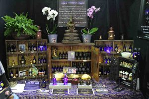 WellBeing Essences Display at MBS, Mind Body Spirit Show, London